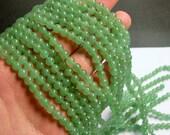Green Aventurine 6mm round beads -1 full strand - 66 beads - A quality - RFG864