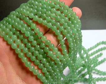 Green Aventurine 6mm round beads -1 full strand - 66 beads - A quality - RFG864