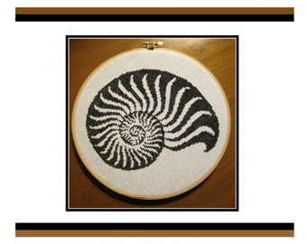 Cross Stitch PDF E pattern emailed Nautilus Beach Pattern Sampler Design 160