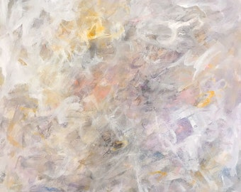 Large Abstract Expressionist Original Painting- In the Clouds 36 x 36