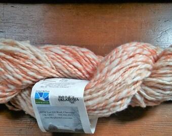 Dual Color: Salmon / Cream - 100% Wool Yarn