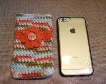 iPhone Cover, iPhone Case, iPhone Accessory, Crochet iPhone Cover,