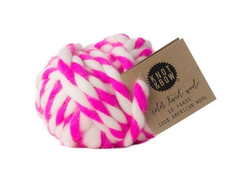 Hot Pink Color Twist Wool / 10 Yards