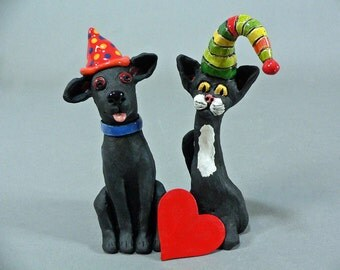 EXPRESSO, A Whimsical Ceramic Party Animal Dog Sculpture