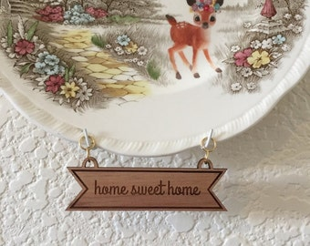 Home Sweet Home Wooden Plate Banner