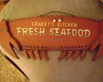 Advertising Sign Crab