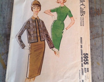 Vintage McCall's Sewing Pattern 5955 Misses' Size 11 Dress Jacket