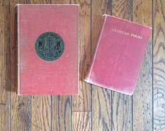 Vintage Red American Poetry Books Untermeyer Long