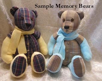 Handmade MEMORY Teddy Bear - KEEPSAKE Teddy Bear - Memory Bear - Custom Order Teddy Bear - Toy Teddy Bear - Stuffed Teddy Bear