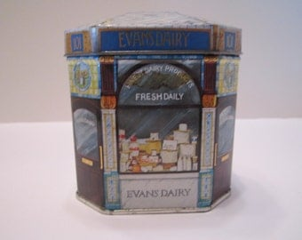 Evans Dairy Vintage Tin The London Collection Ian Logan Ltd 1981