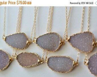 50% OFF DRUZY LOVE /// Small /// Electroformed Gemstone Druzy /// Gold Plate