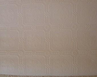 Dollhouse ceiling medallion wallpaper miniature paintable 1:12 scale