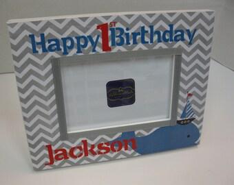 First Birthday Frame to match Invitation-2