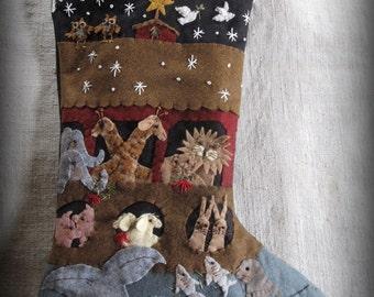 We Wish You A Merry Christmas Stocking E-PATTERN by cheswickcompany