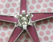 Pink Posey Star- 6.5 inches