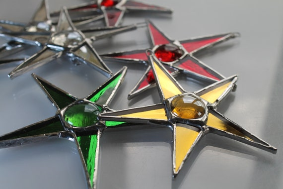 Mirror Babies- 3 inch stars using colored mirrored glass