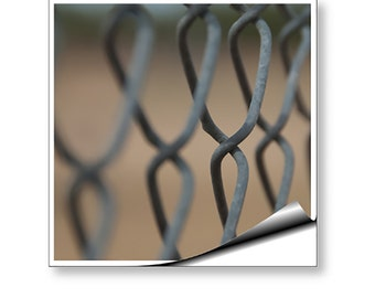 Wall Mural Art Decal Chain Link Fence