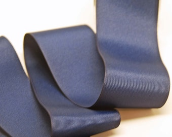 Grosgrain Solid Color Ribbon -- 2.5 inch -- Navy Blue -- 2 yards