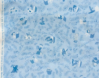 SALE : Little Golden Books tonal blue Quilting Treasures fabrics FQ or more Oop Htf