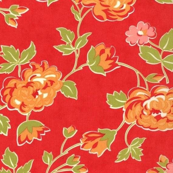 Marmalade Bonnie & Camille bloom red moda fabrics FQ or more