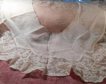Antique Lace Vintage Lace Lawn Fabric French Lace Trim Craft Supplies Edwardian Dress