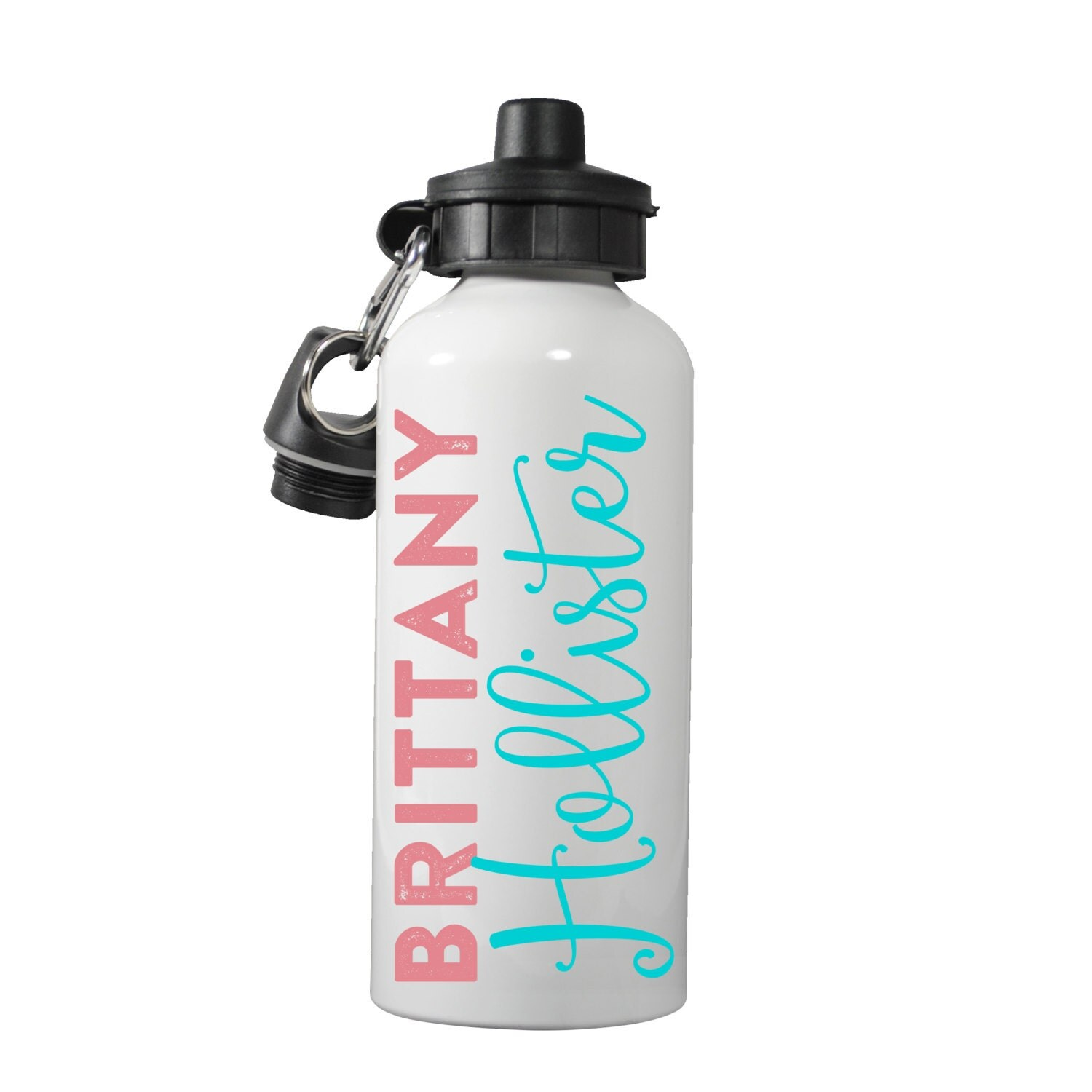 Name personalized water bottle personalized name water for Create custom water bottles