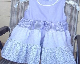 Handmade cotton dress for toddler.