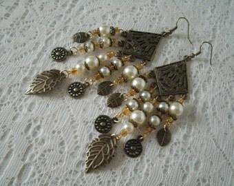 Medieval Earrings, medieval jewelry renaissance jewelry victorian jewelry edwardian steampunk neo victorian art nouveau art deco earrings