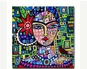 60% Off Today- Frida TILEFrida Kahlo Art   Mexican Folk Art Ceramic Tile  Gift COASTER