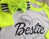 Mommy's Bestie shirt girls bff shirt best friend shirt mommys bff shirt bestie shirt kids best friend shirt mommys best friend
