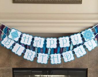 Frozen Birthday Banner, Elsa Banner, Frozen Birthday Banner, Disney Elsa Banner, Frozen Birthday Banner, Frozen Party, Disney Party