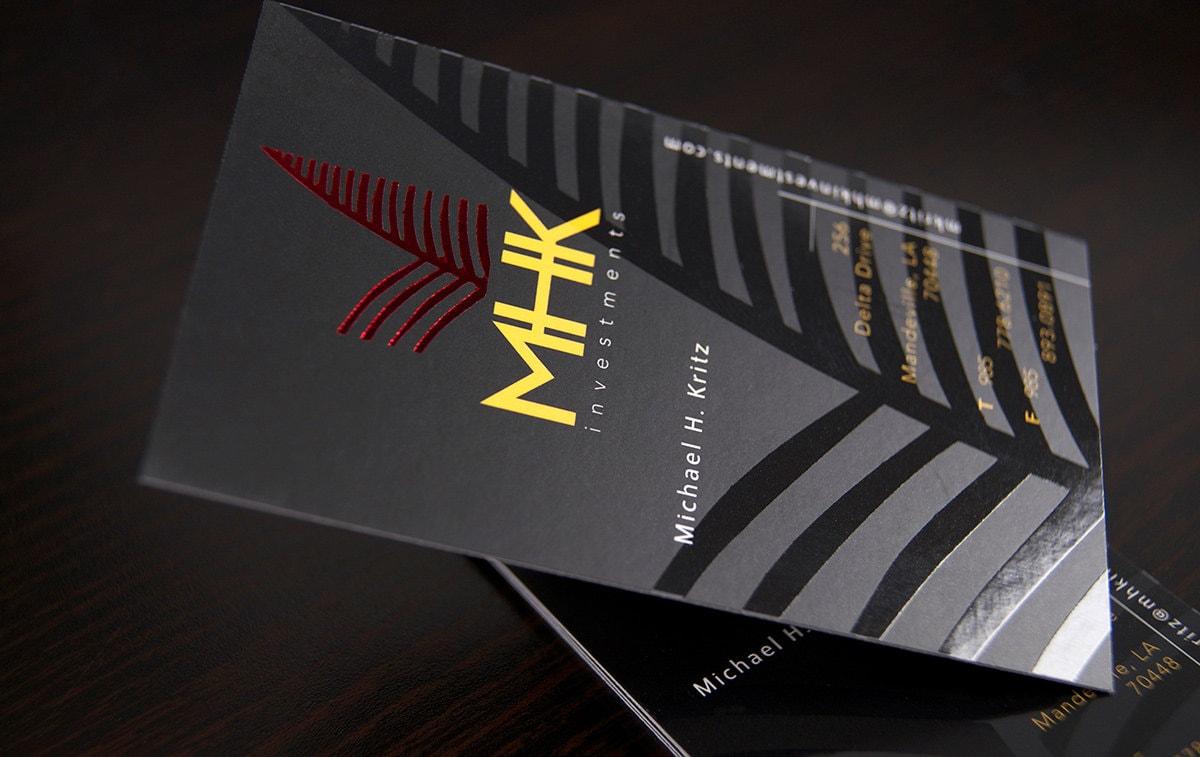 500 Business Cards spot UV and metallic foil 16PT silk