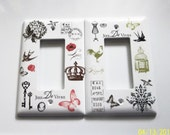 Custom order for Cathy (travelbug) - Parisian Inspired Light Switch Covers