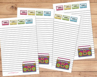 Boombox - A5 Stationery - 12, 24 or 48 sheets