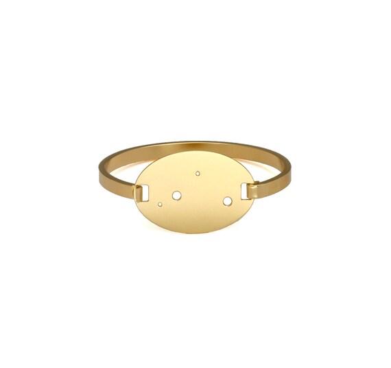 Libra 14kt Gold Dipped Zodiac Constellation Oval Bracelet
