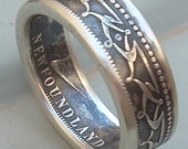 1899 Newfoundland Fifty Cent Coin Ring (Available in sizes 8.5 through 11)