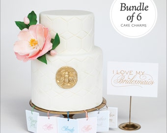 Shower Game - 6 Charm Cake Pulls for your Bridesmaids, Flower Girls, Mother of the Bride and Mother of the Groom