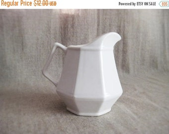 Happy 4th with 40% Off Vintage White Creamer / Cottage Chic Little Pitcher / Sweet Cottage Chic Vintage White Creamer