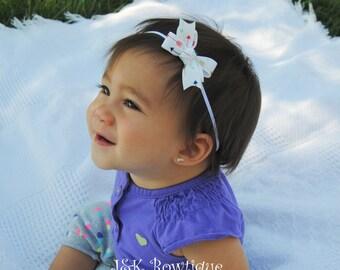 Arrows Infant Bow headband -  Baby Hair Bow Headband - Infant Headband, Baby Headband, Skinny Elastic Headband