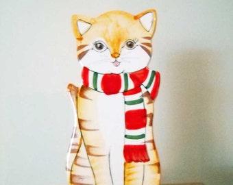 Vintage Cat Wall Pocket or Vase Ceramic #2