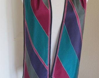"Liz Claiborne  // Colorful Skinny Silk Scarf // 8"" x 62"" Long // Best of the Best"