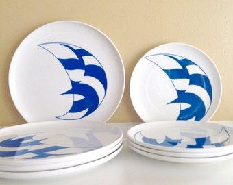 SALE! Set of Non-Slip Yacht Line Monte Carlo Melania Tableware