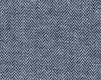 Herringbone Pattern Indigo Chambray, Chambray Union Collection by Robert Kaufman, 1 Yard