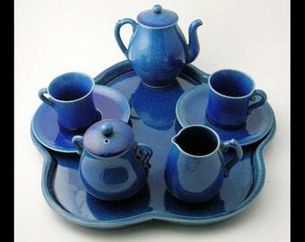 Cabaret Tea Set Rare Art Moderne Child's Deco Dishes 1930's Children's Toys