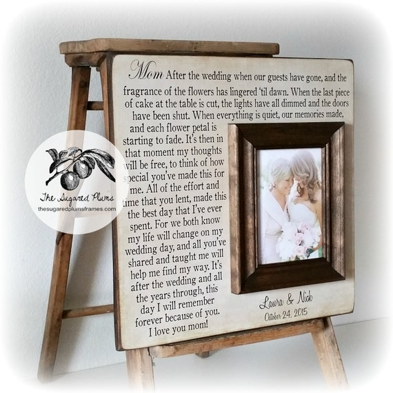 Wedding Picture Frame Mother Of The Bride Gift By
