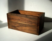Vintage Wood Box / American Type FDRS Sales Corporation / Handmade Wood Box / Reclaimed Materials / Rustic Wood Box / Distressed Wood Box
