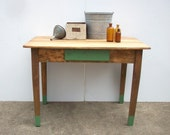 Vintage Antique Farm Table / Rustic Decor / Primitive Country Table / Refurbished Rebuilt Reclaimed / Kitchen Table / SALE Today Only