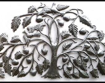 "Metal Wall Hanging, Tree of Life - 22"" x 34"",  Haitian Art, Steel Drum  Metal Art,  Home Decor, Tree Art, Metal Wall Art, Wall Decor - 343"