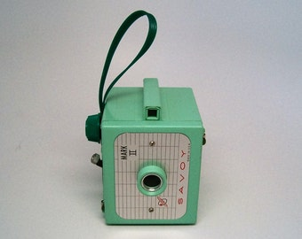 WORKING, VINTAGE Camera, Green Vintage Savoy Mark II Camera
