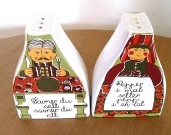 Figgjo Flint Folklore Salt and Pepper Shakers
